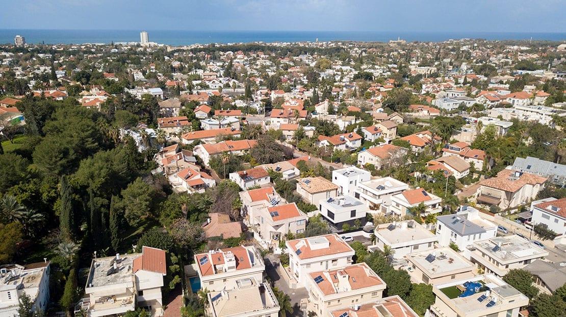 שכונת מגורים צילום מלמעלה